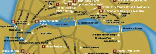 Dubai Map Map of Dubai – Dubai Tourist Attractions Map